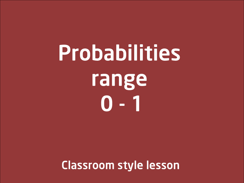 SubjectCoach | Probabilities range 0 - 1