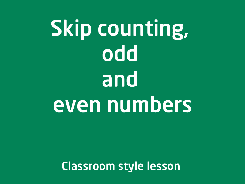 SubjectCoach | Skip counting, odd and even numbers