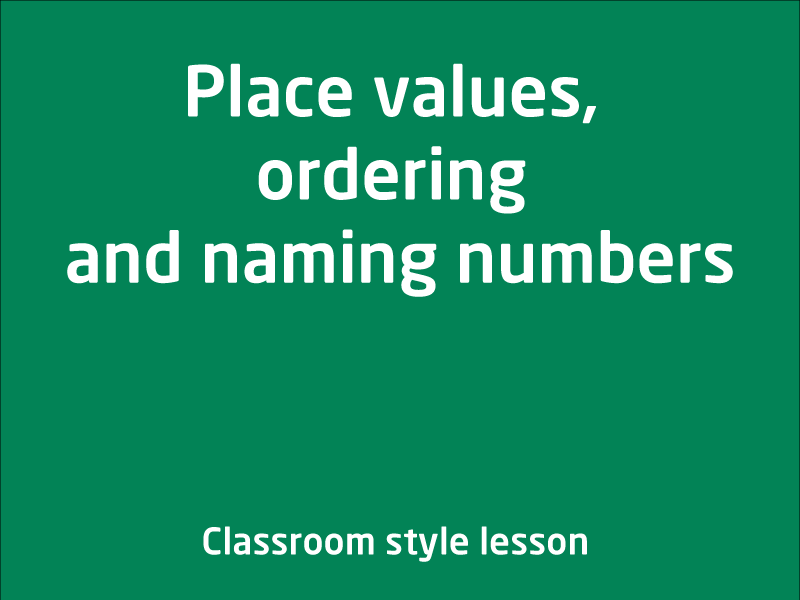 SubjectCoach | Place values, ordering and naming numbers