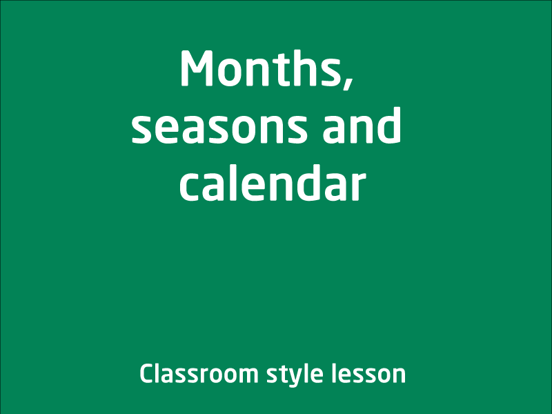 SubjectCoach | Months, seasons and calendar