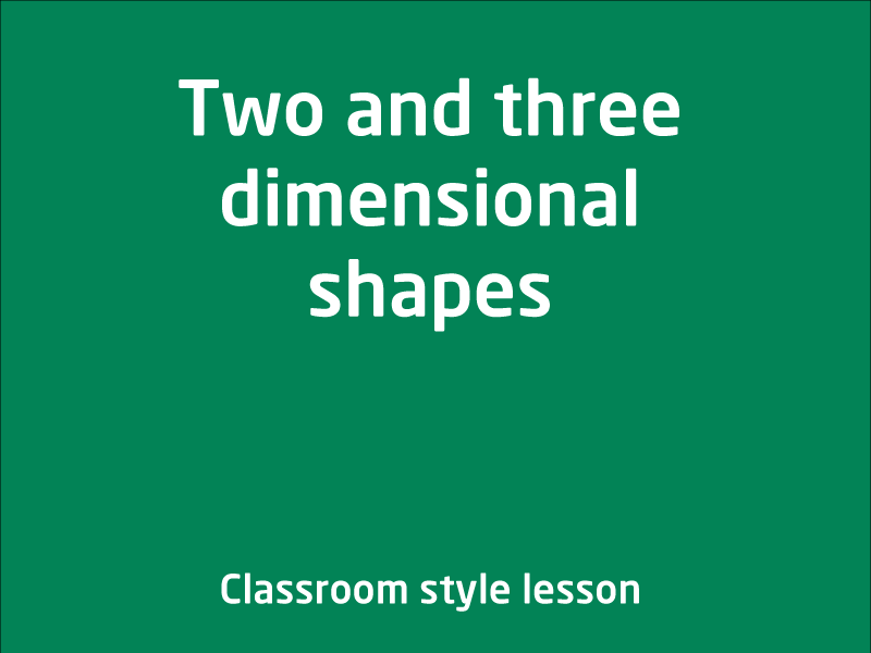 SubjectCoach | Two and Three dimensional shapes