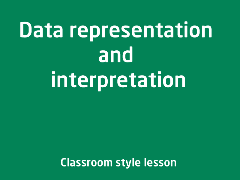 SubjectCoach | Data representation and interpretation