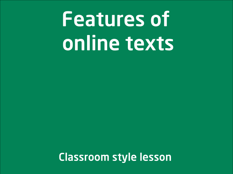SubjectCoach | Features of online texts