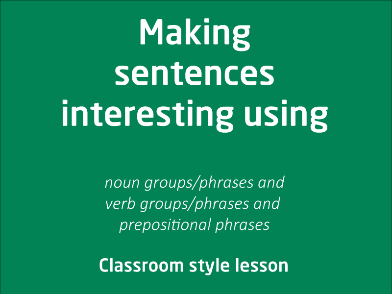 SubjectCoach | How can we make a sentence interesting