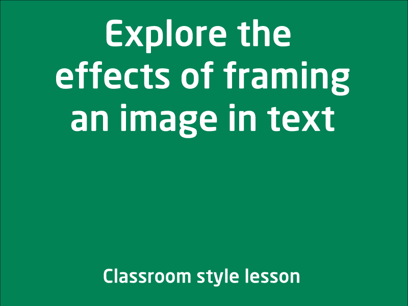 SubjectCoach | Effects of framing an image in text