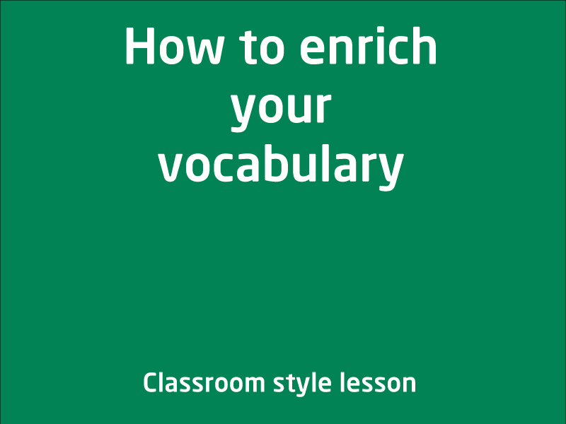 SubjectCoach | How to enrich your vocabulary