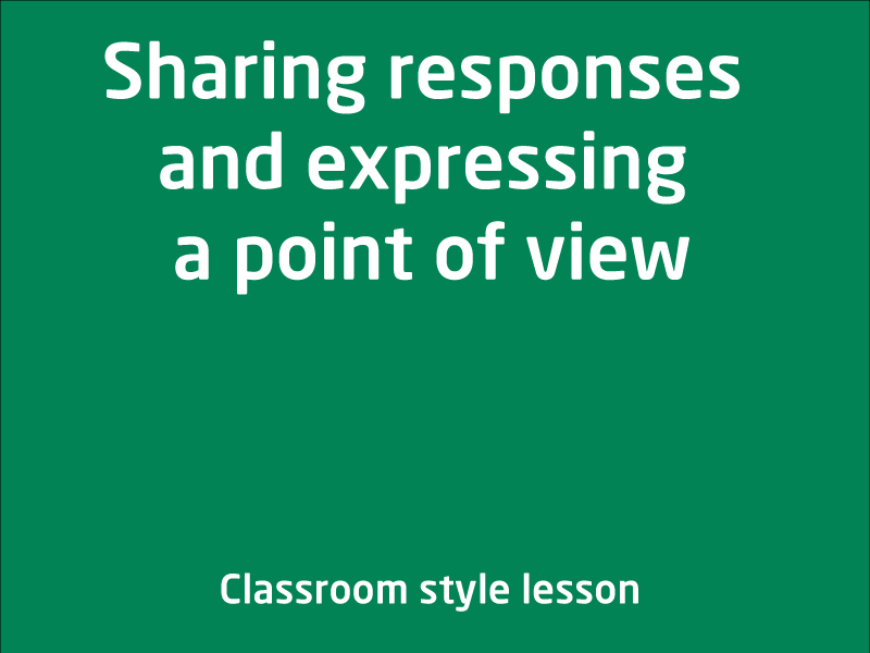 SubjectCoach | Sharing responses and expressing a point of view