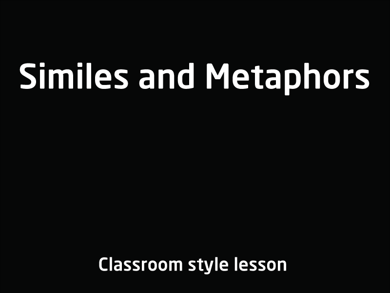 SubjectCoach | Similes and Metaphors