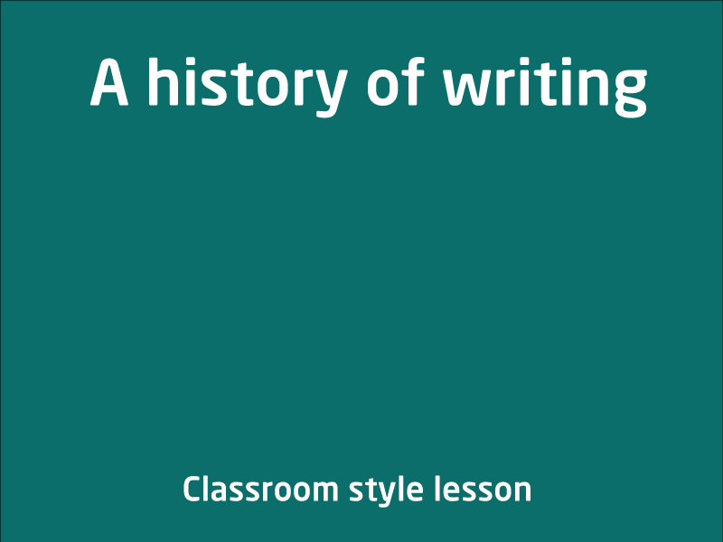SubjectCoach | A history of writing
