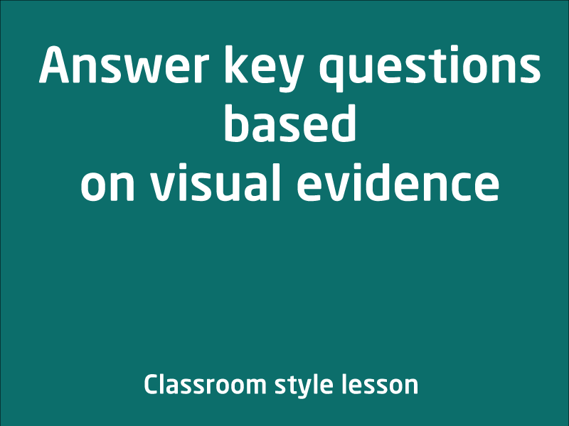 SubjectCoach | Answering key questions based on visual evidence