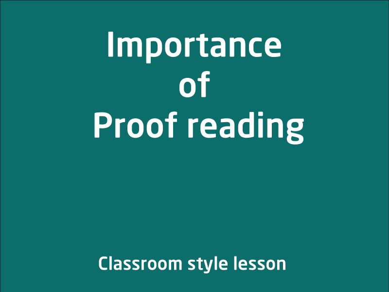 SubjectCoach | Importance of Proof reading