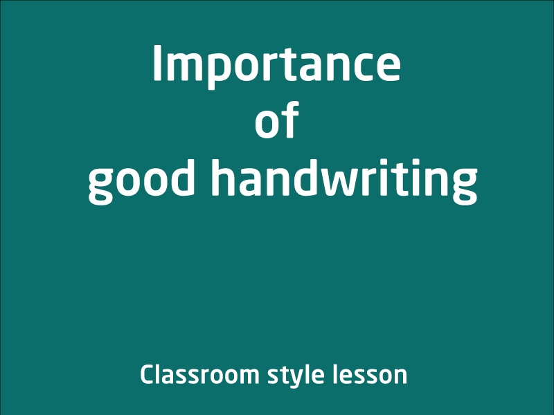 SubjectCoach | Importance of Good handwriting