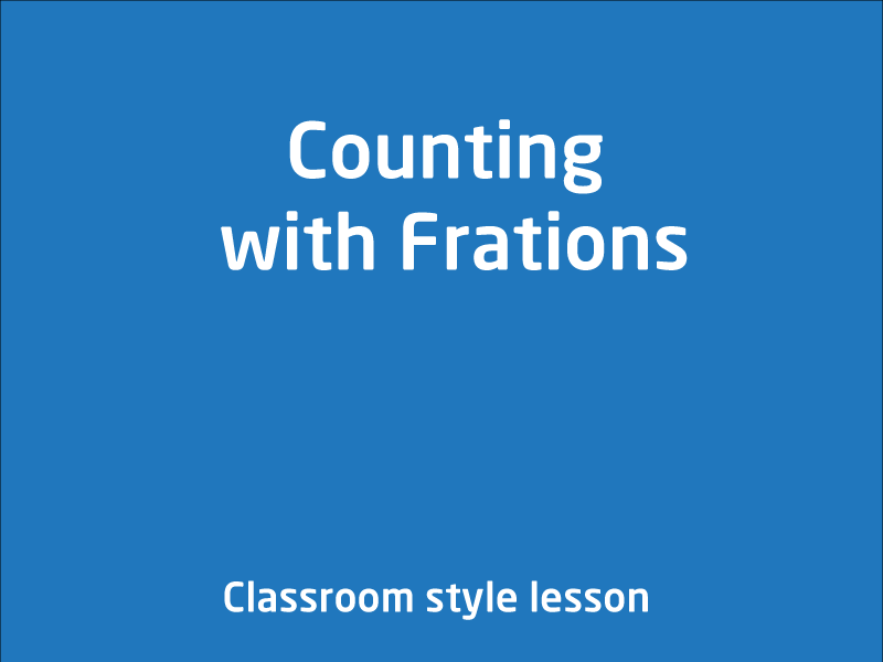 SubjectCoach | Counting with Frations
