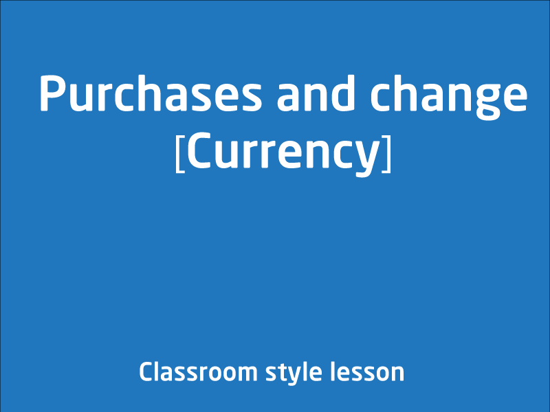 SubjectCoach | Purchases and change