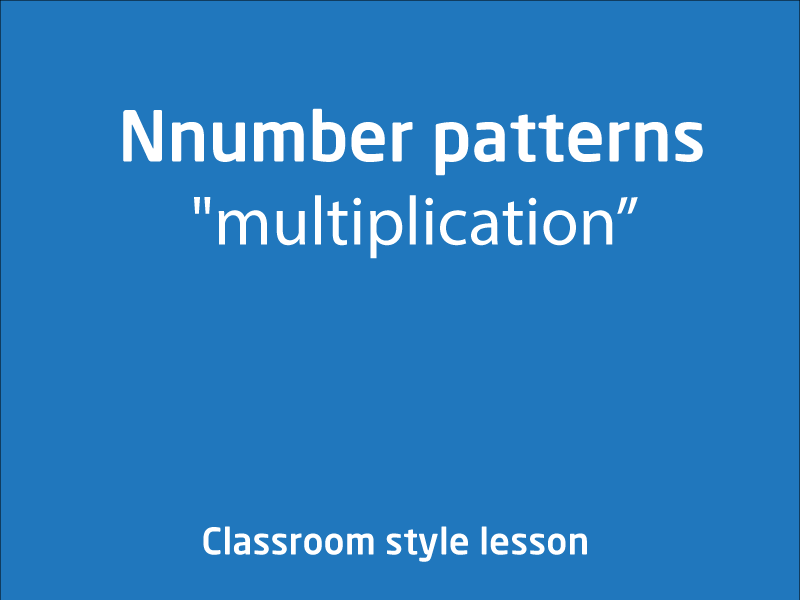 SubjectCoach | Multiplication number patterns