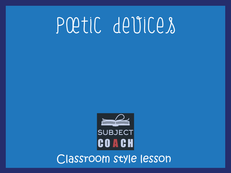 SubjectCoach | Poetic devices