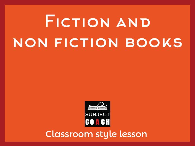SubjectCoach | Fiction and Non Fiction books