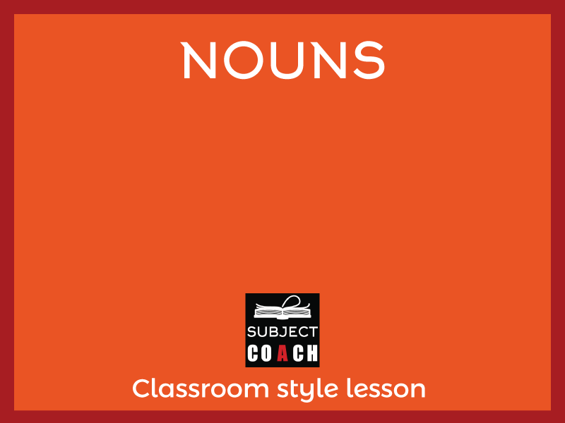 SubjectCoach | Nouns