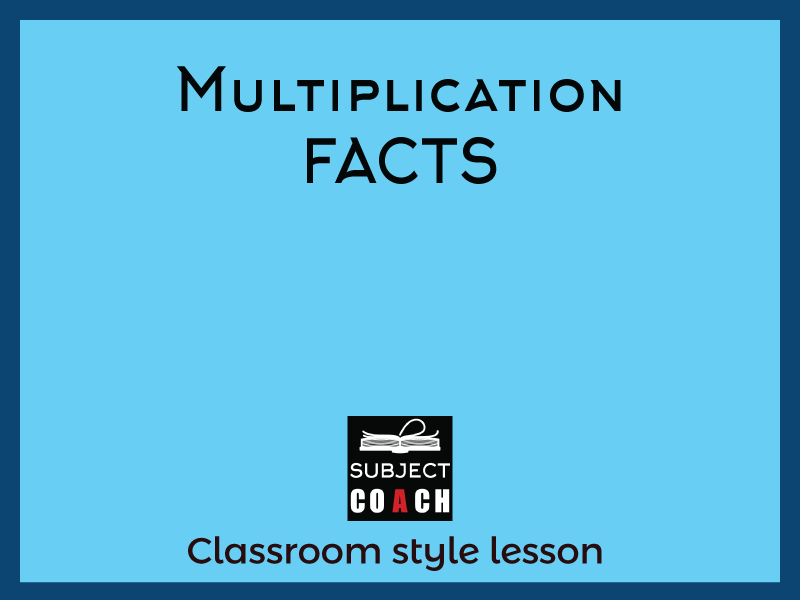 SubjectCoach | Multiplication facts