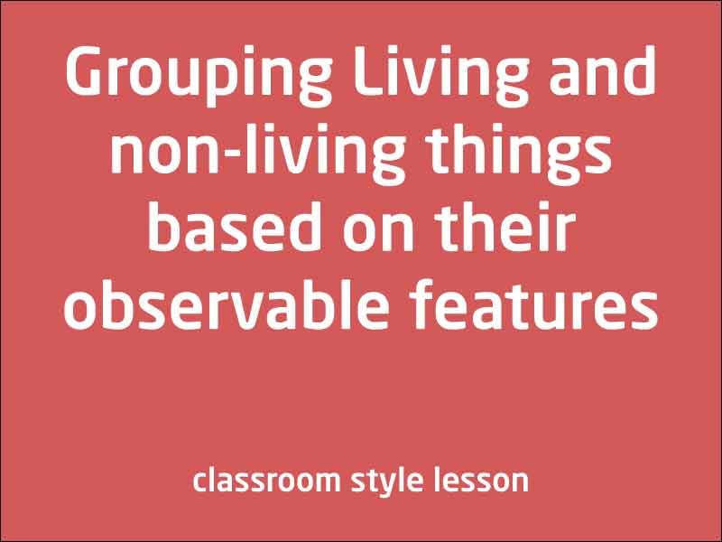 SubjectCoach | Living things can be grouped on the basis of observable features