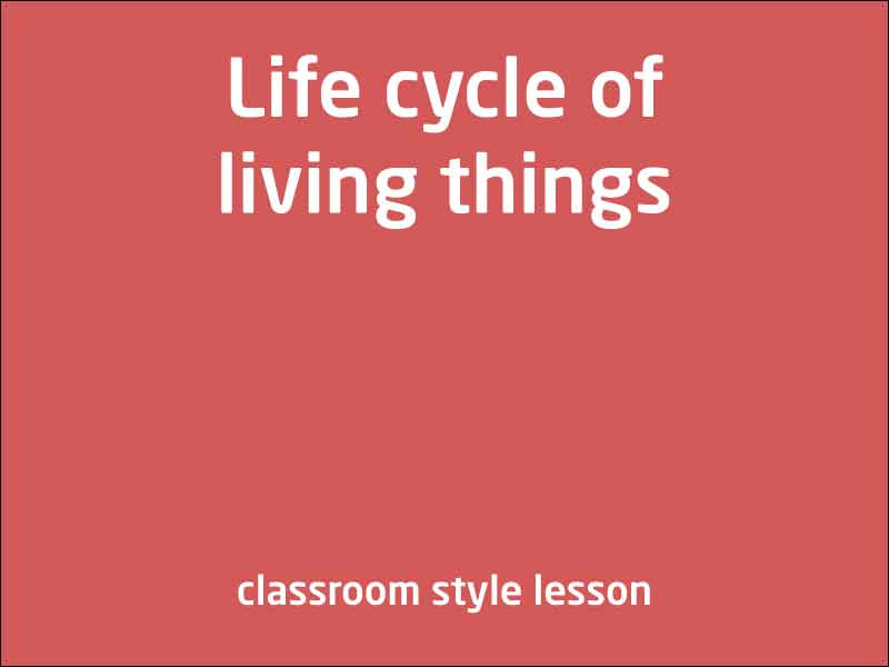 SubjectCoach | Life cycle of living things