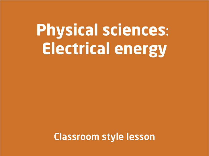 SubjectCoach | Physical sciences: Electrical energy