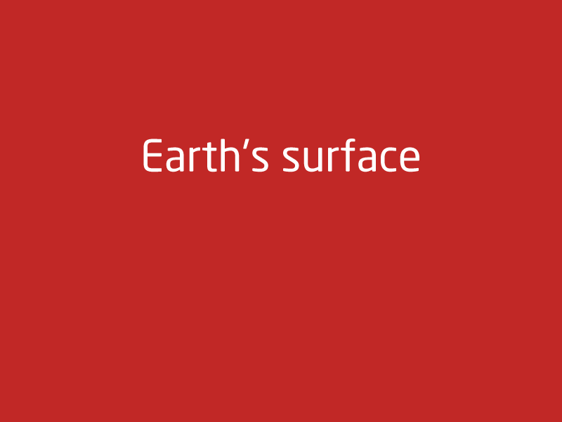 SubjectCoach | Earth's surface