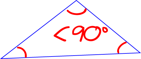 Definition of accute triangle