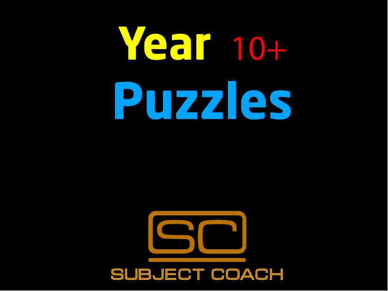 SubjectCoach | Year 10+ Puzzles