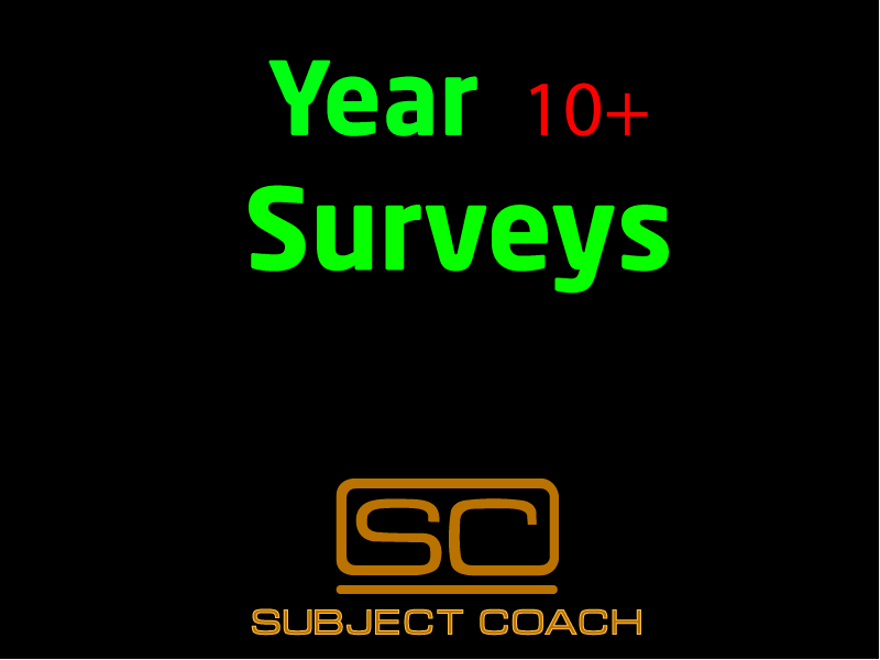 SubjectCoach | Surveys