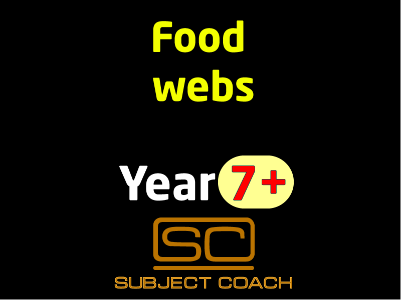 SubjectCoach | Food Webs