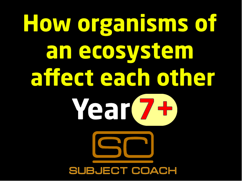 SubjectCoach | Organisms of an ecosystem