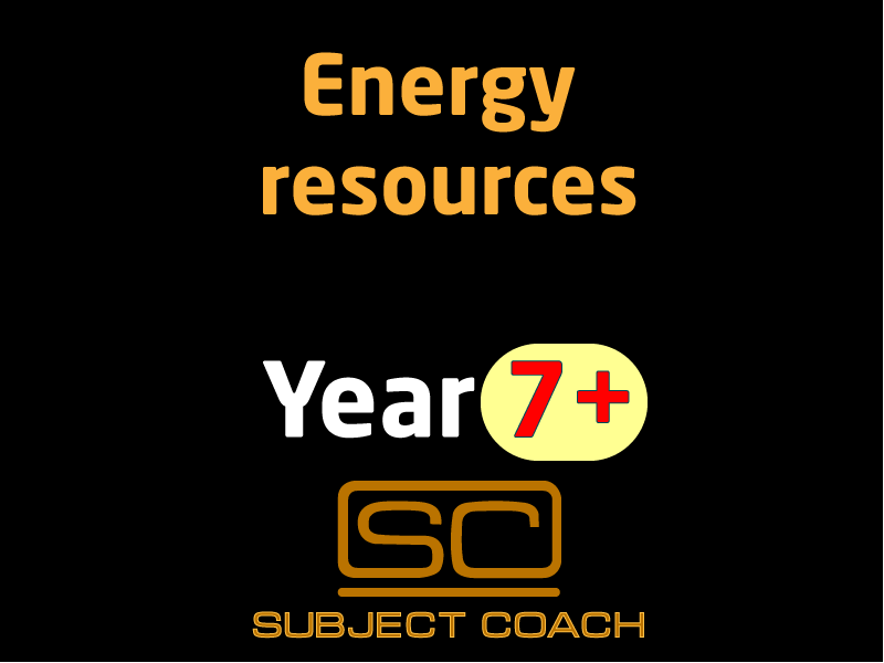 SubjectCoach | Energy resources