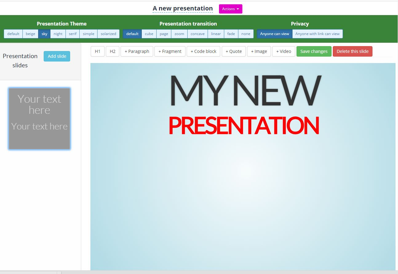 Online presentations with SubjectCoach
