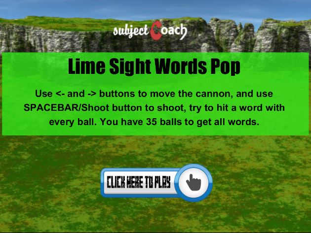 Learn lime sight words