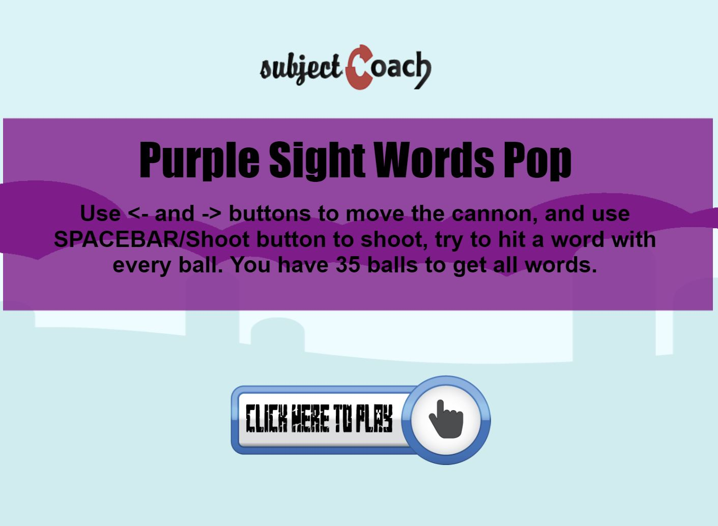 Learn purple sight words