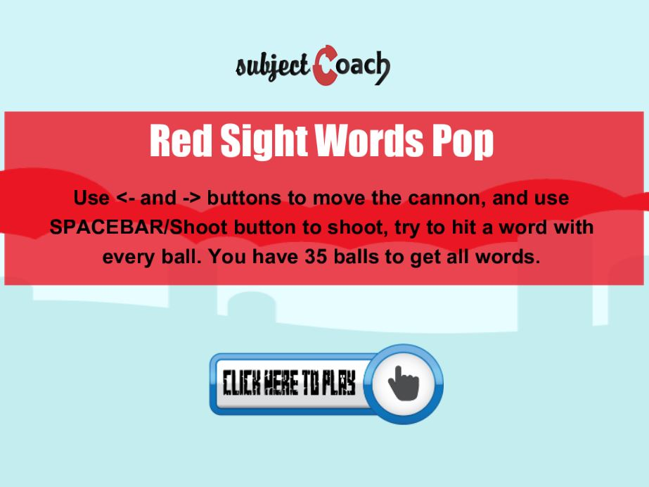 Learn red sight words