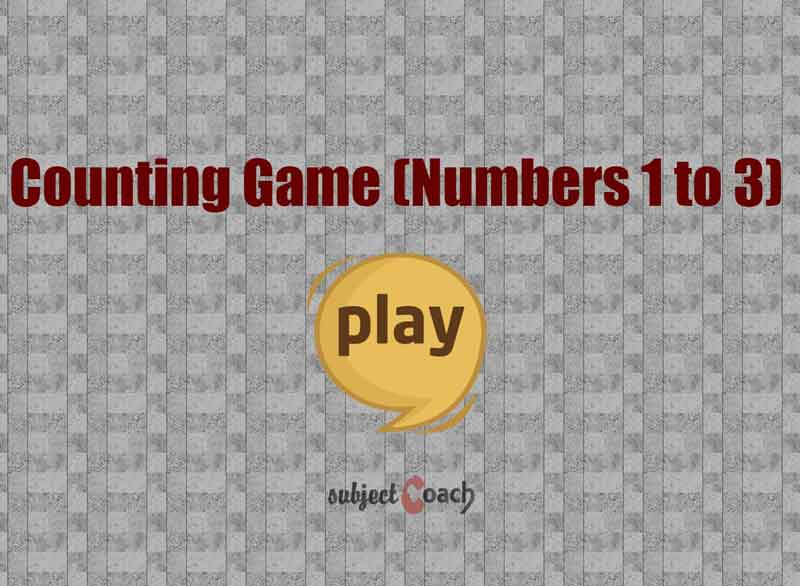 Count upto 3 objects in interactive way